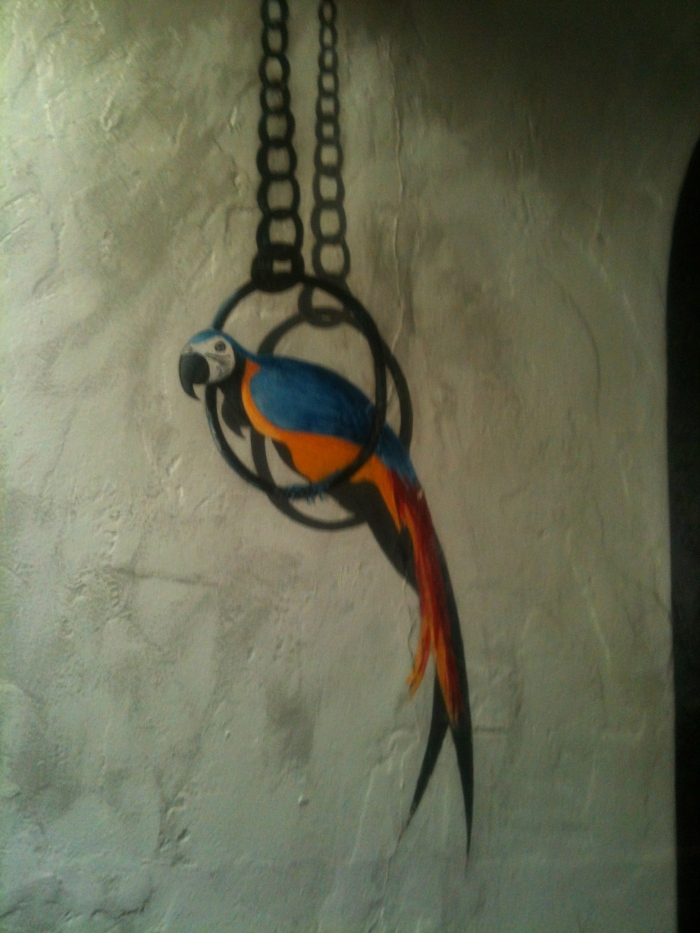 Bird on a Chain Mural